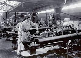 trabajo en cadena, fabrica
